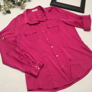 Calvin Klein button down with pockets size large
